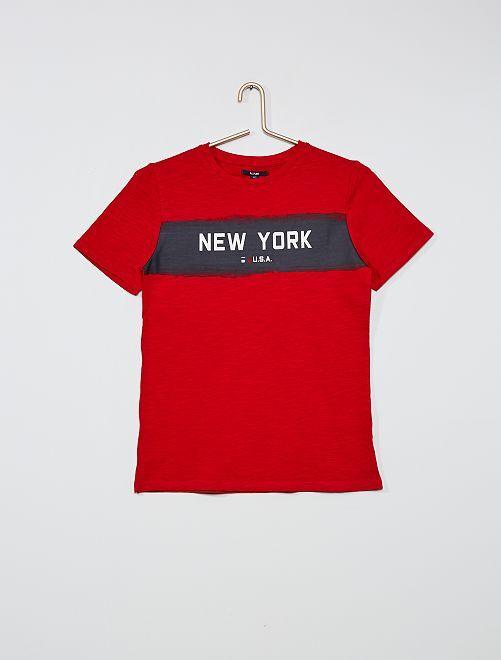 T-shirt imprimé 'New-York'                                                     rouge