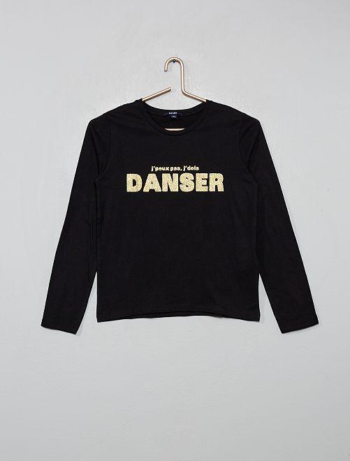 T-shirt imprimé                                                                                         noir/danse