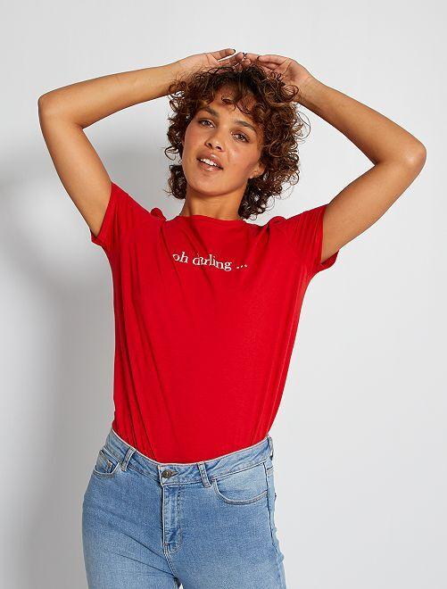 T-shirt imprimé 'oh darling'                                                                                                                                                                                                                                                                                                                                         rouge