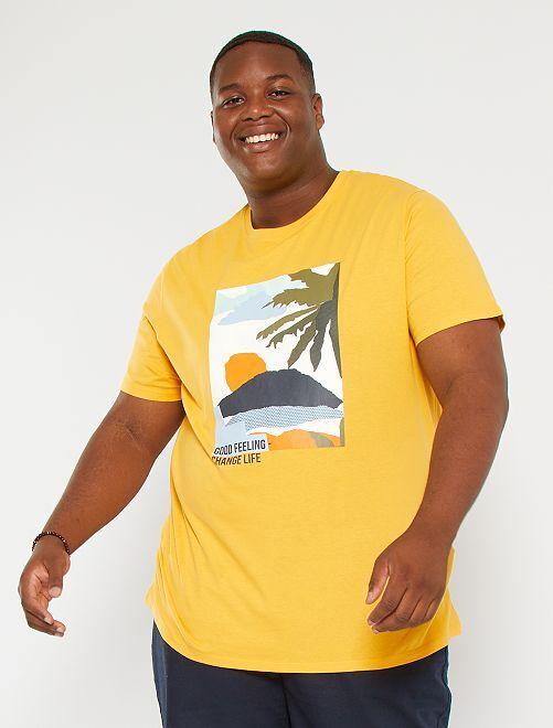 T-shirt imprimé                                                                             orange