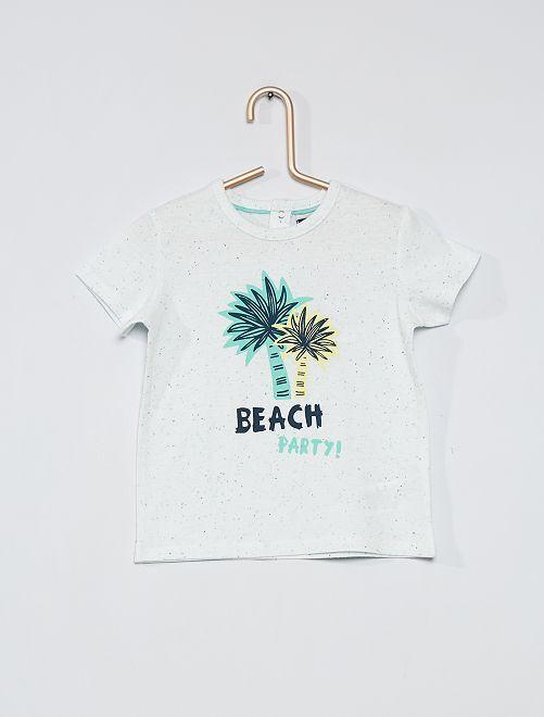 T-shirt imprimé 'palmiers'                             blanc