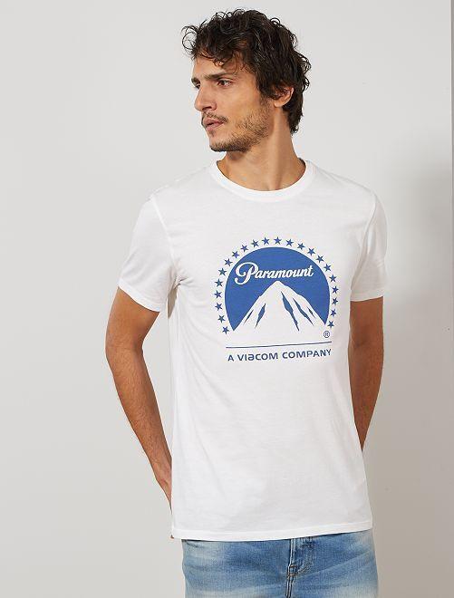 T-shirt imprimé 'Paramount'                             blanc