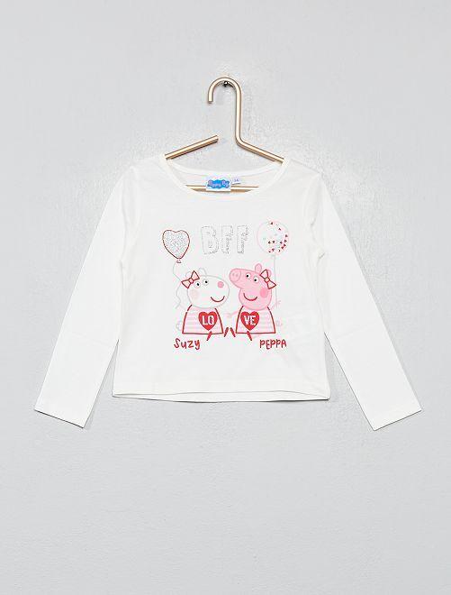 T-shirt imprimé 'Peppa Pig'                             blanc