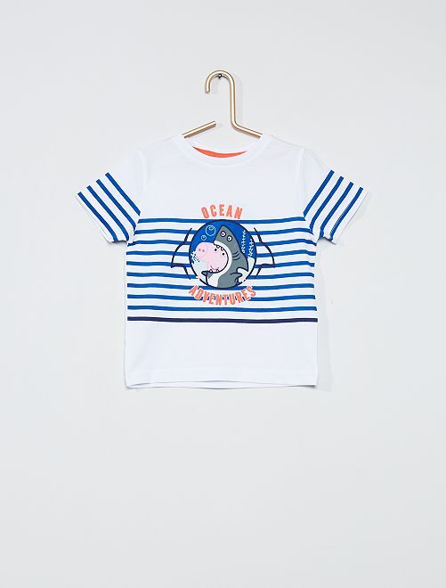 T-shirt imprimé 'Peppa Pig'                                         blanc rayé