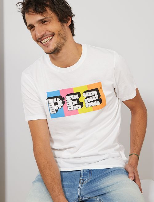 T-shirt imprimé 'Pez'                             blanc