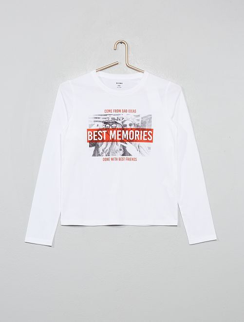 T-shirt imprimé 'photo'                                         blanc