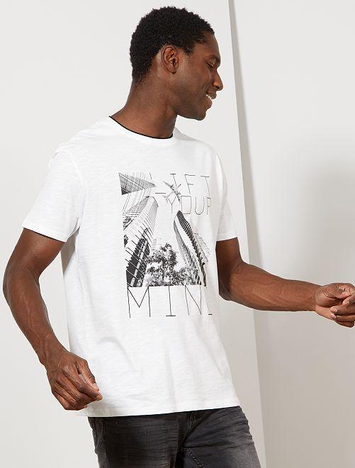 T-shirt imprimé photo                                                                 blanc