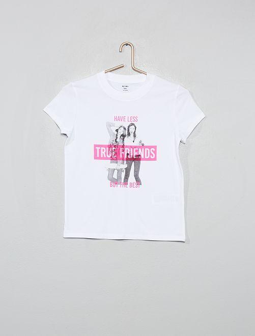 T-shirt imprimé 'photo'                                                                                         blanc photo