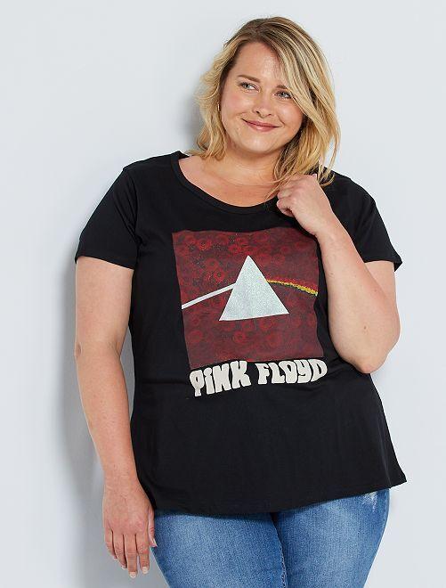 T-shirt imprimé 'Pink Floyd'                             noir