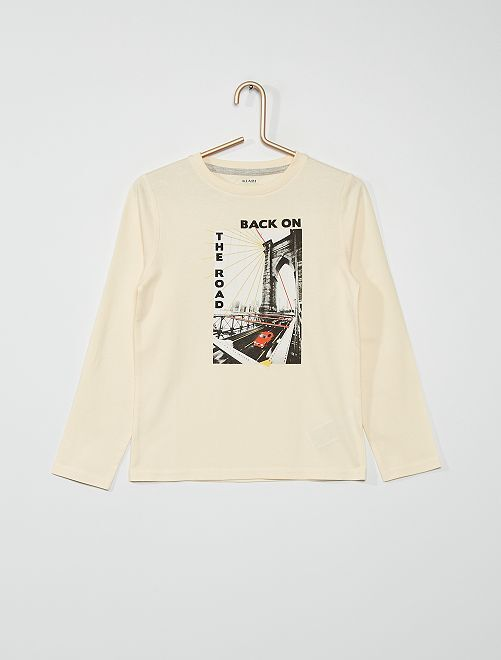 T-shirt imprimé                                                                                                                                                                                             beige newyork