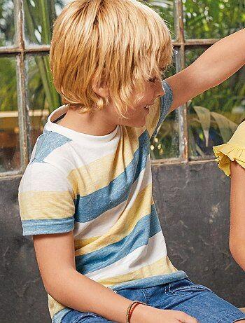 34bfca46932 T-shirt imprimé rayé - Kiabi