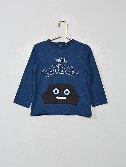 T-shirt imprimé 'robot'                                         bleu