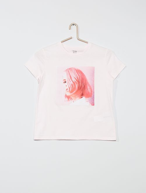 T-shirt imprimé                                                                                                                                                                             rose