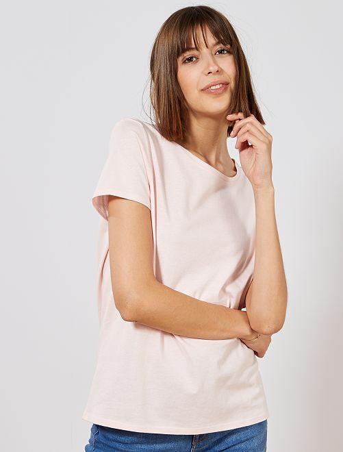 T-shirt imprimé                                                                                                                                                                                                                                                                                                                                                                 rose pastel Femme