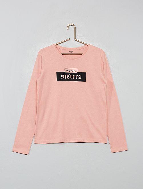 T-shirt imprimé                                                                                                                                         rose/sisters