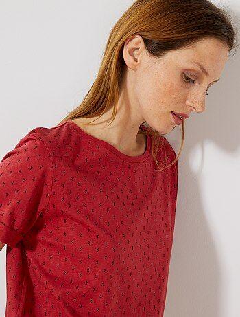 T-shirt imprimé Vêtements femme   rouge   Kiabi bb1c4adfda50
