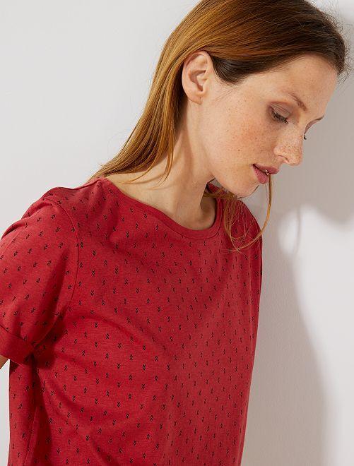 T-shirt imprimé                                                                                                                                                                                                                                                                                                                                         rouge flèches Femme