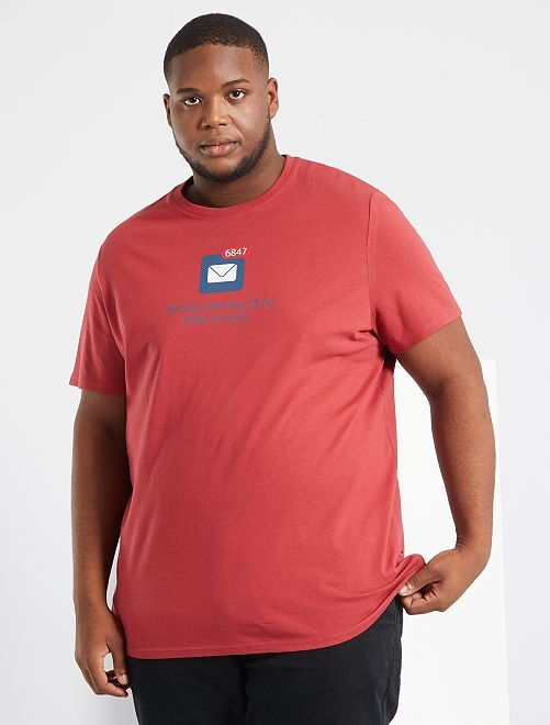 T-shirt imprimé                                                     rouge/mail