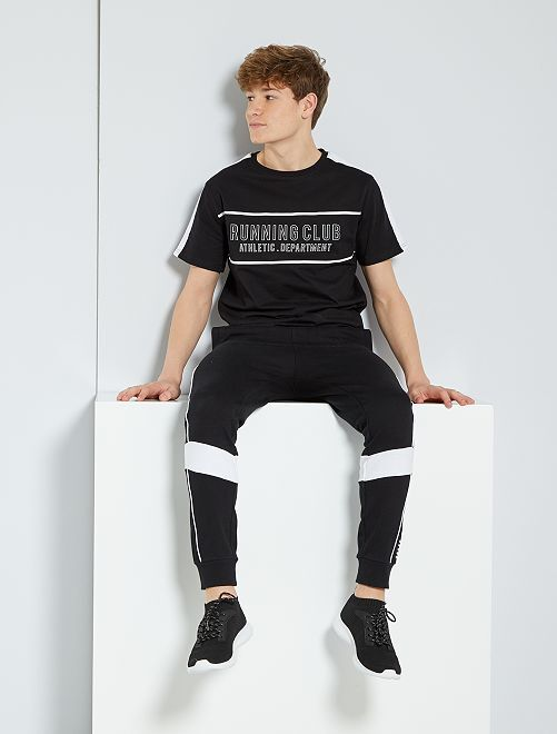 T-shirt imprimé 'running'                                         noir