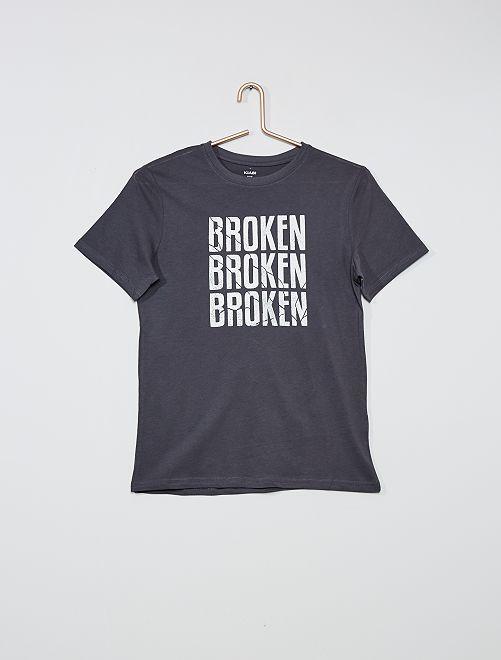 T-shirt imprimé 'skate'                                                                                                                             gris