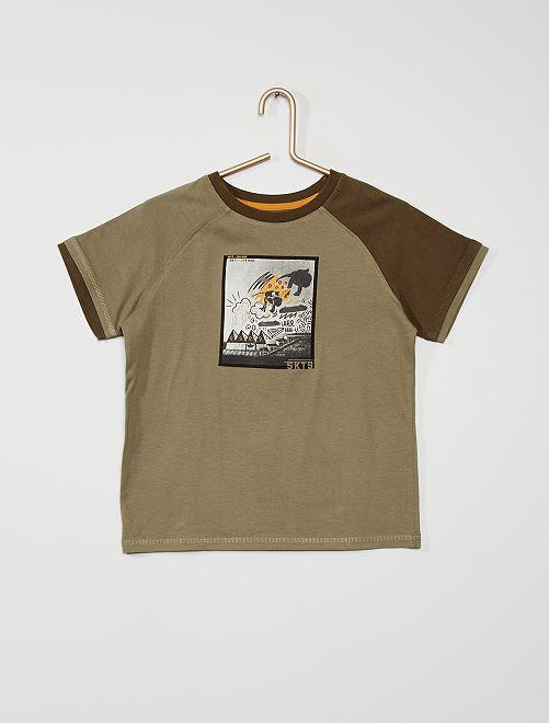 T-shirt imprimé 'skate'                             kaki