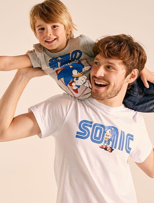 T-shirt imprimé 'Sonic'                             blanc Homme