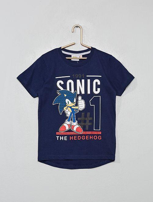 T-shirt imprimé 'Sonic'                             bleu marine