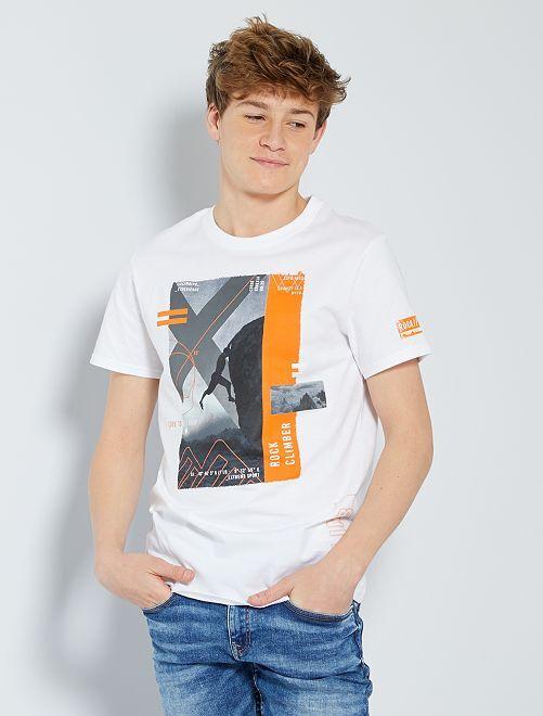 T-shirt imprimé 'sport'                     blanc