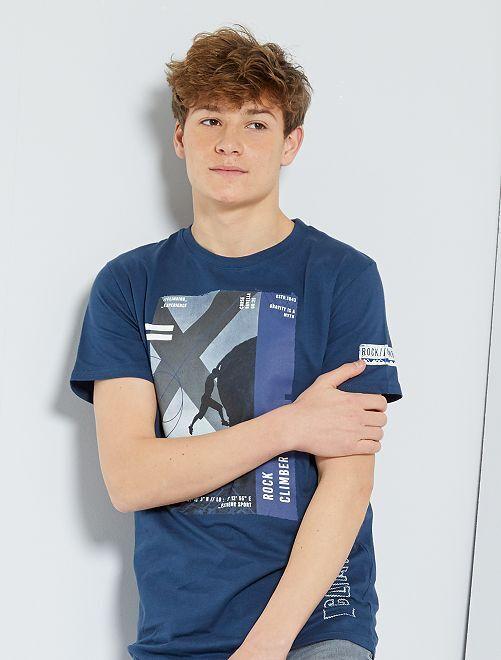 T-shirt imprimé 'sport'                                                                 bleu