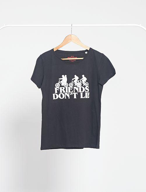 T-shirt imprimé 'Stranger Things'                             noir