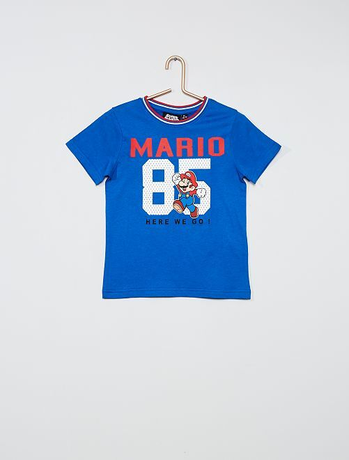 T-shirt imprimé 'Super Mario'                             bleu