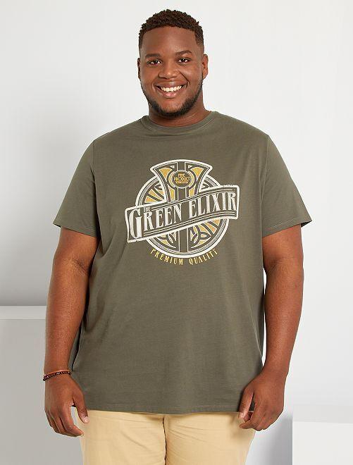 T-shirt imprimé                                         taupe