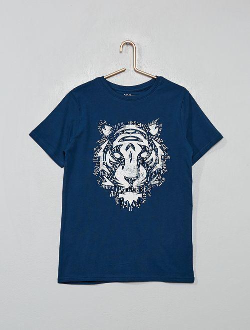T-shirt imprimé 'tigre'                                                                                                                                                     bleu