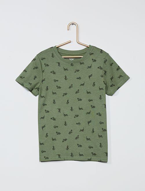 T-shirt imprimé 'tigre' 'éco-conception'                                                                                                                             vert