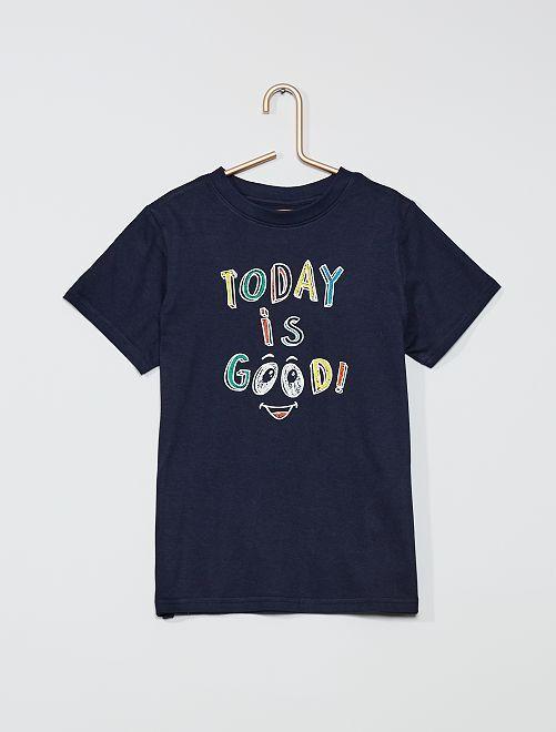 T-shirt imprimé 'Today is good' 'éco-conception'                                                                                                                                                     marine