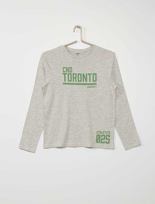 T-shirt imprimé 'Toronto'                                                                                                                                                                                                                             gris