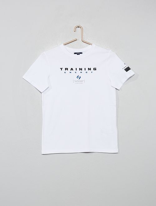T-shirt imprimé 'Training Energy'                             blanc