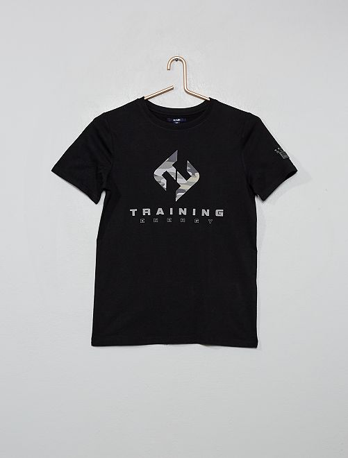 T-shirt imprimé 'Training Energy'                                                     noir