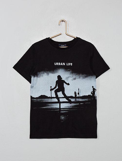 T-shirt imprimé urbain                                         noir