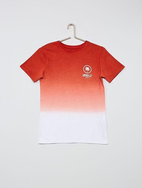 T-shirt imprimé 'Venice beach' effet tie and dye                                                     orange