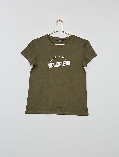T-shirt imprimé                                                                             vert Fille adolescente