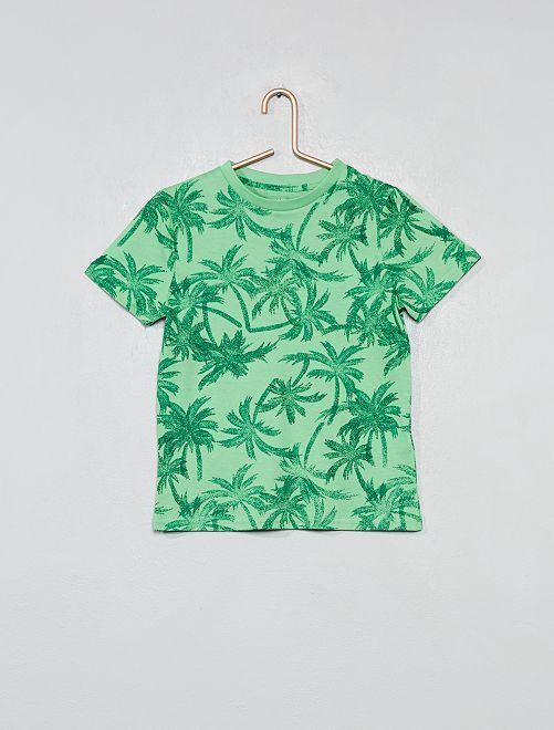 T-shirt imprimé                                                                                                     vert Garçon