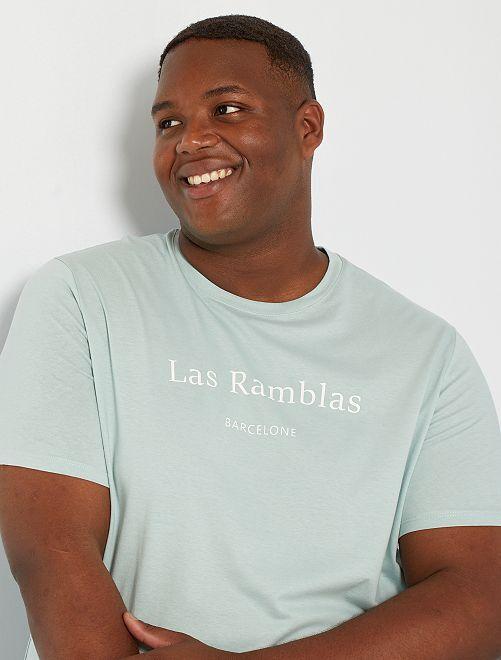 T-shirt imprimé                                                                             vert pâle
