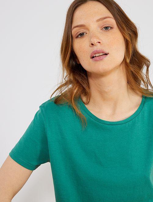 T-shirt imprimé                                                                                                                                                                                                                                                                                                                                                     vert pin Femme
