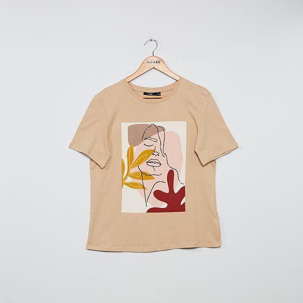 T shirt imprimé 'visage'