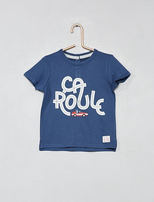 T-shirt imprimé 'voiture'                             bleu Bébé garçon