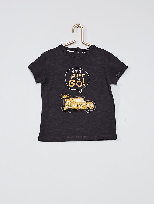 T-shirt imprimé 'voiture'                                                                 gris foncé
