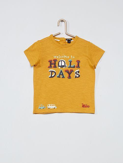 T-shirt imprimé 'voiture'                                                     jaune moutarde