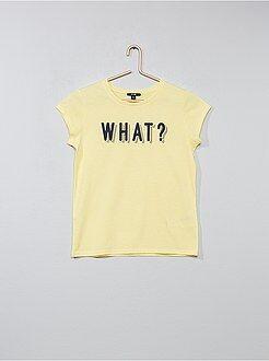 T-shirt imprimé 'What' - Kiabi