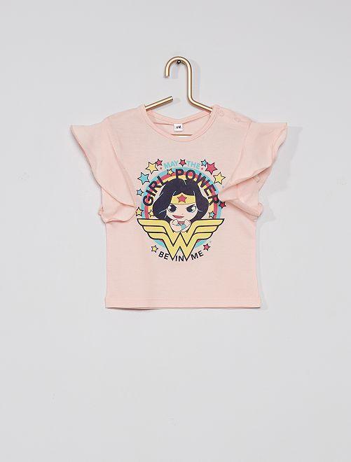 T-shirt imprimé 'Wonder Woman'                             rose